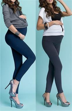 Luvmabelly 55749 - Lullabelly Dual Pack Black and navy blue Tights Pregnant