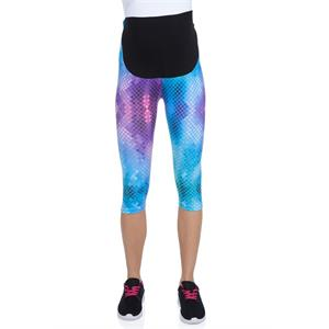 Luvmabelly 8019 Lullabelly Maternity - Cotton Belly-Pregnant Tights Capri Yoga Sport Series Assisted