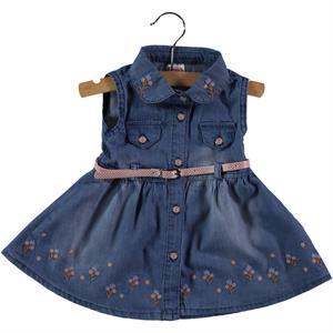 Civil Baby Kız Bebek Kot Elbise 6-18 Ay Mavi