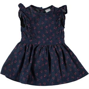 Civil Baby 6-18 Months Baby Girl Dress Frilly Denim, Tongue In Cheek