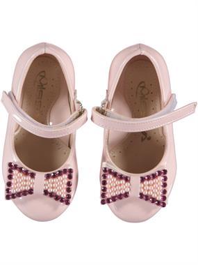 Missiva Powder Pink Baby Girl Ballet Flats 21-25 Number
