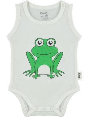 Civil Baby Ecru Baby 0-18 Months Bodysuit With Snaps