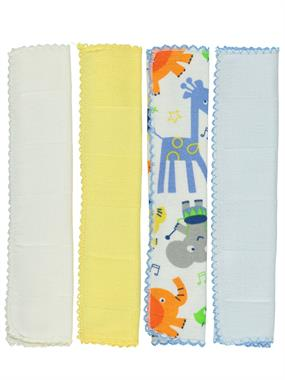 Minidamla Combed cotton 4-Blue Wipes Mouth