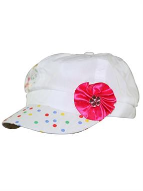Tidi White Hat Cap Girl Boy Ages 3-7