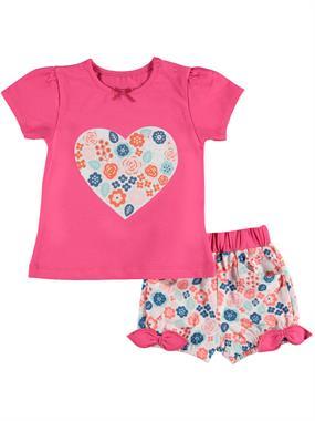 Kujju Team Shorts Baby Girl 6-18 Months Fuchsia