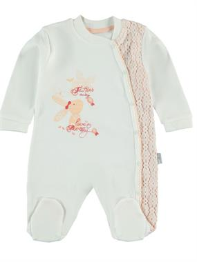 T.F.Taffy Oh Baby, Booty Baby Girl 0-6 Months Overalls Salmon