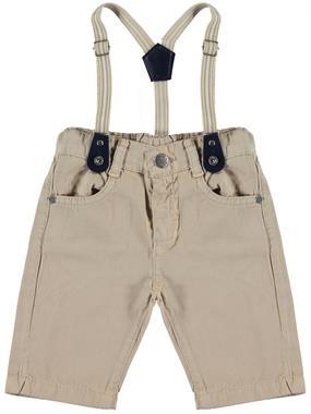 Civil Boys Age 2-5 Beige Boy Shorts Suspenders