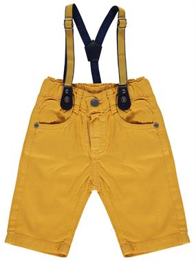 Civil Boys Mustard Shorts Suspenders Boy Age 2-5