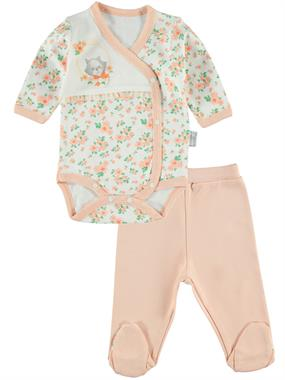 T.F.Taffy Baby Girl 0-6 Months, Powder Pink Suit