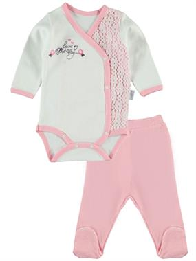 T.F.Taffy Baby Girl 0-6 Months Pink Suit