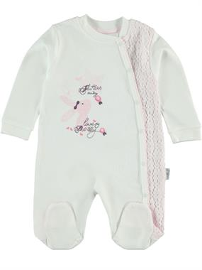 T.F.Taffy Oh Baby, Booty Baby Girl 0-6 Months Pink Overalls