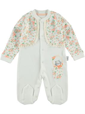 T.F.Taffy Oh Baby, Booty Baby Girl Overalls 0-3 Months Salmon