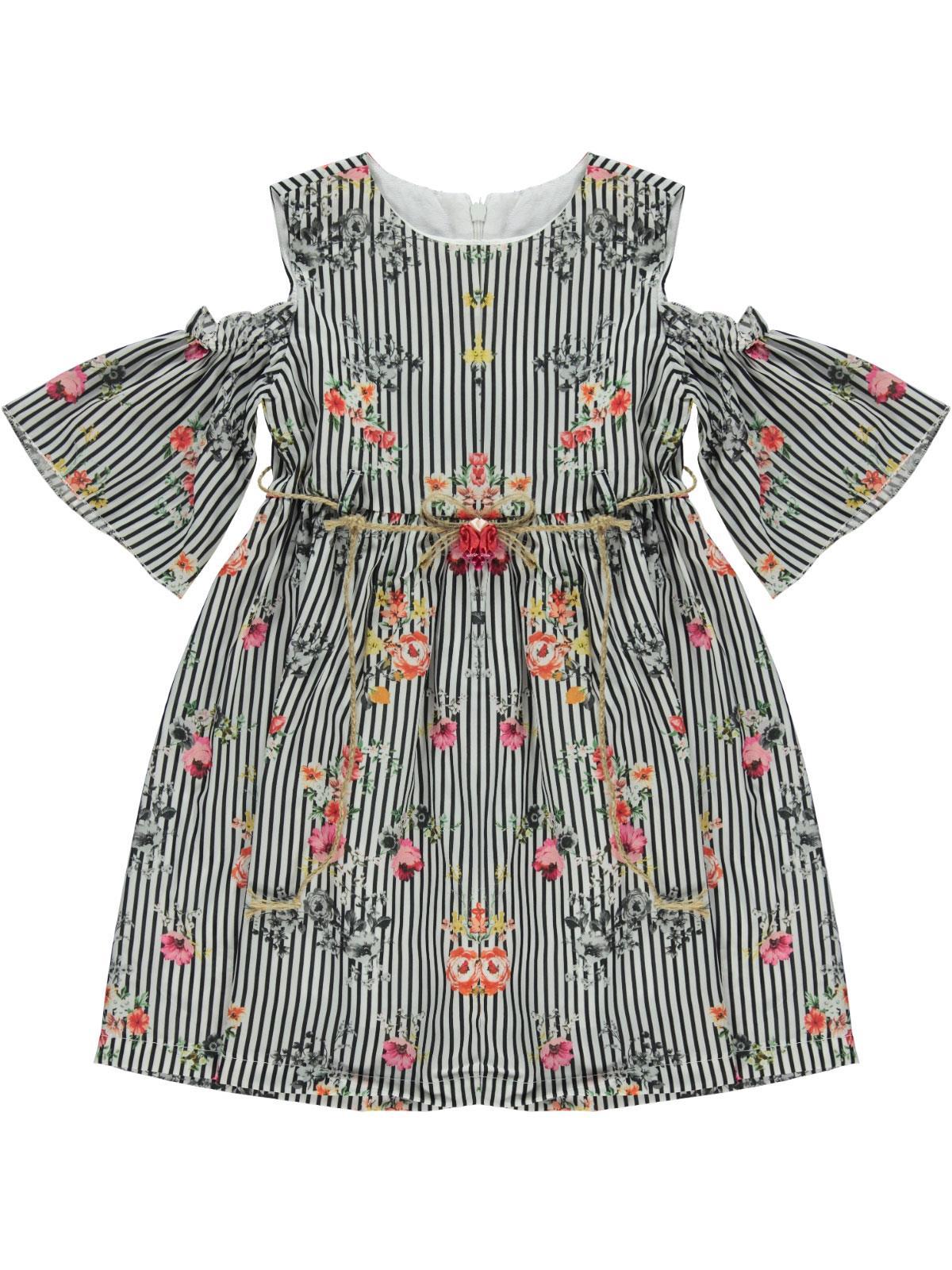 1ba32cdf8c307 5707-1 / LCI Civil Girls Kız Çocuk Elbise 6-9 Yaş Lacivert