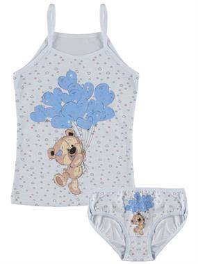 Donella Blue Team Girl Child Underwear The Ages Of 2-8
