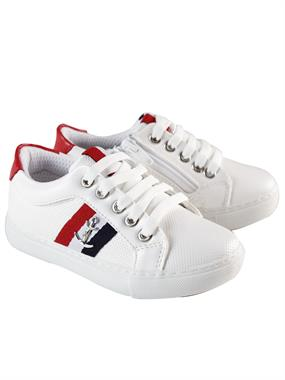 Barbone Caldion White Sneakers Boy 26-30 Number