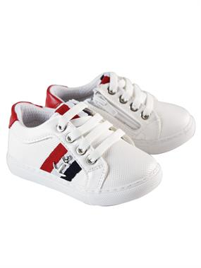 Barbone Caldion White Sneakers Boy 21-25 Number