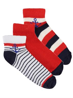 Civil Boys Boy 3-Set of socks, age 2-12 Red