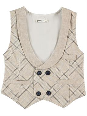 Civil Boys Vest Beige Boy Age 6-9