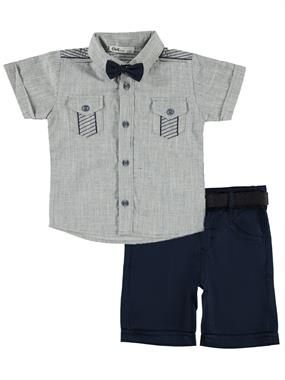 Civil Boys 2-5 Years Navy Blue Boy With A Bow Tie Team
