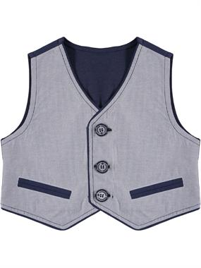 Civil Boys 2-5 Years Navy Blue Boy Vest