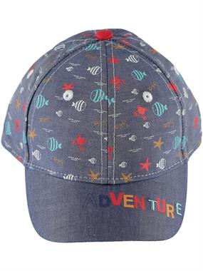 Kitti Erkek Çocuk Kep Şapka 4-8 Yaş İndigo