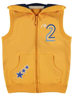 Civil Boys Boy Combed Cotton Hooded Vest 2-5 Years