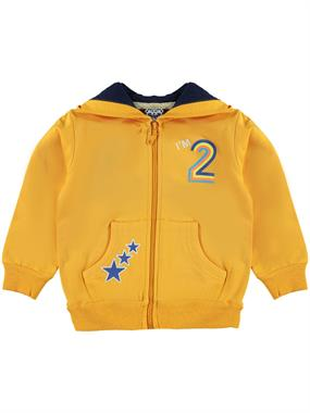Civil Boys Boy Combed Cotton Hooded Cardigan Mustard 2-5 Years
