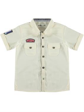 Civil Boys Ecru Shirt Age 6-9 Boy