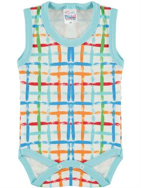 Misket Baby Boy 0-12 Months Turquoise Bodysuit With Snaps