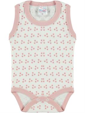 Misket Baby Girl Bodysuit With Snaps 0-12 Months, Powder Pink