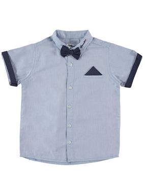 Civil Boys Age 6-9 Boy Blue Shirt With A Bow Tie