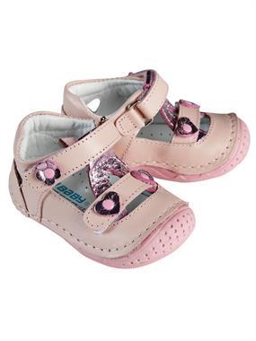 Baby Force Kız Bebek Deri İlkadım Ayakkabısı 18-21 Numara Pudra Pembe