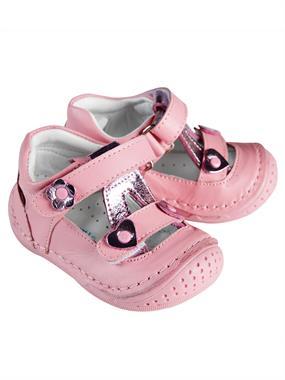 Baby Force Kız Bebek Deri İlkadım Ayakkabısı 18-21 Numara Pembe