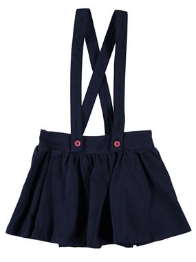 Cvl 2-5 Years Navy Blue Suspenders Skirt Girl Boy