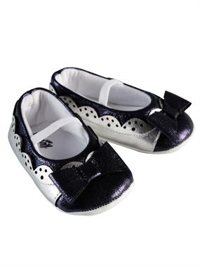 Funny Baby Baby Girl Booties In Navy Blue 16-19 Number