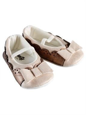 Funny Baby Brown Baby Girl Booties 16-19 Number