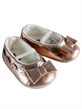 Funny Baby Baby Girl Booties Copper 16-19 Number