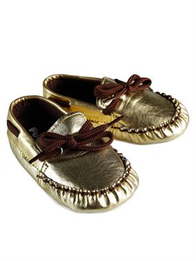 Funny Baby Gold Baby Girl Booties 16-19 Number