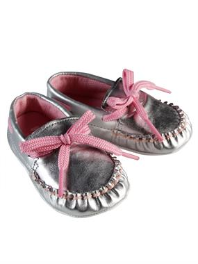 Funny Baby Baby Booties Girl Silver 16-19 Number