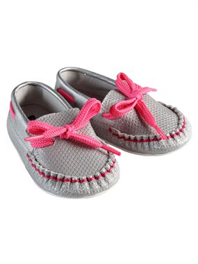 Funny Baby 16-19 Number Baby Girl Booties Grey-Pink