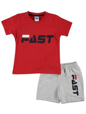 Civil Boys The Team In 2-5 Years Red Boy Shorts