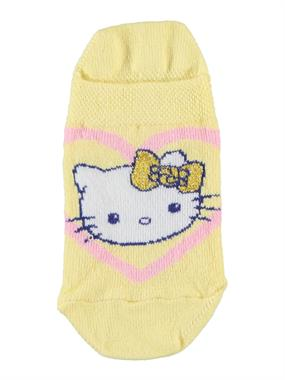 Hello Kitty Boy Girl Socks Booties Yellow With Age 3-9
