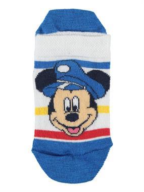 Mickey Mouse Erkek Çocuk Patik Çorap 3-7 Yaş Saks Mavisi