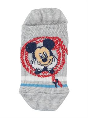 Mickey Mouse Gray Boy Booties Socks Ages 3-7