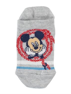 Mickey Mouse Erkek Çocuk Patik Çorap 3-7 Yaş Gri