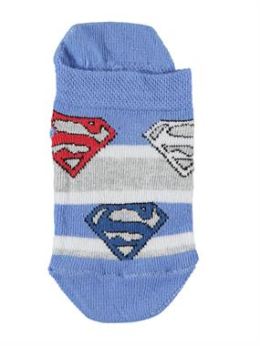 Superman Blue Boy Booties Socks Age 3-9
