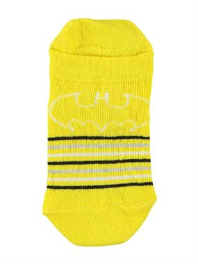 Batman Erkek Çocuk Patik Çorap 3-9 Yaş Sarı