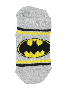 Batman Erkek Çocuk Patik Çorap 3-9 Yaş Gri