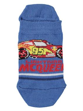 Cars Blue Boy Booties Socks Age 3-9
