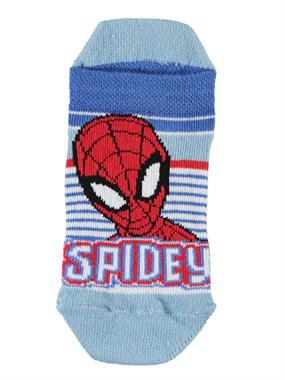 Spiderman Booties Socks Blue Combed Cotton Age 3-9